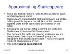 approximating shakespeare127