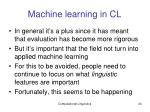 machine learning in cl