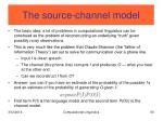 the source channel model