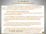 le feedback ou r troaction informationnelle63
