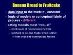 banana bread to fruitcake