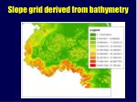 slope grid derived from bathymetry