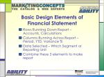basic design elements of financial statement