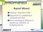 report wizard