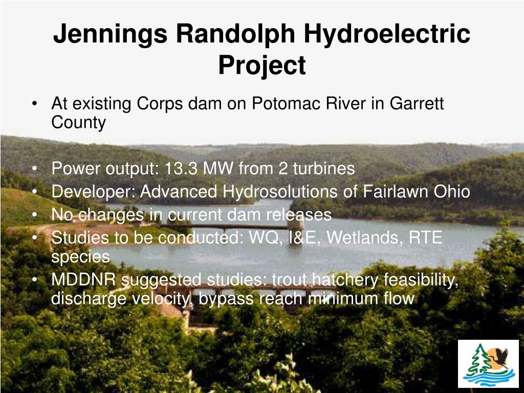 jennings randolph hydroelectric project l.