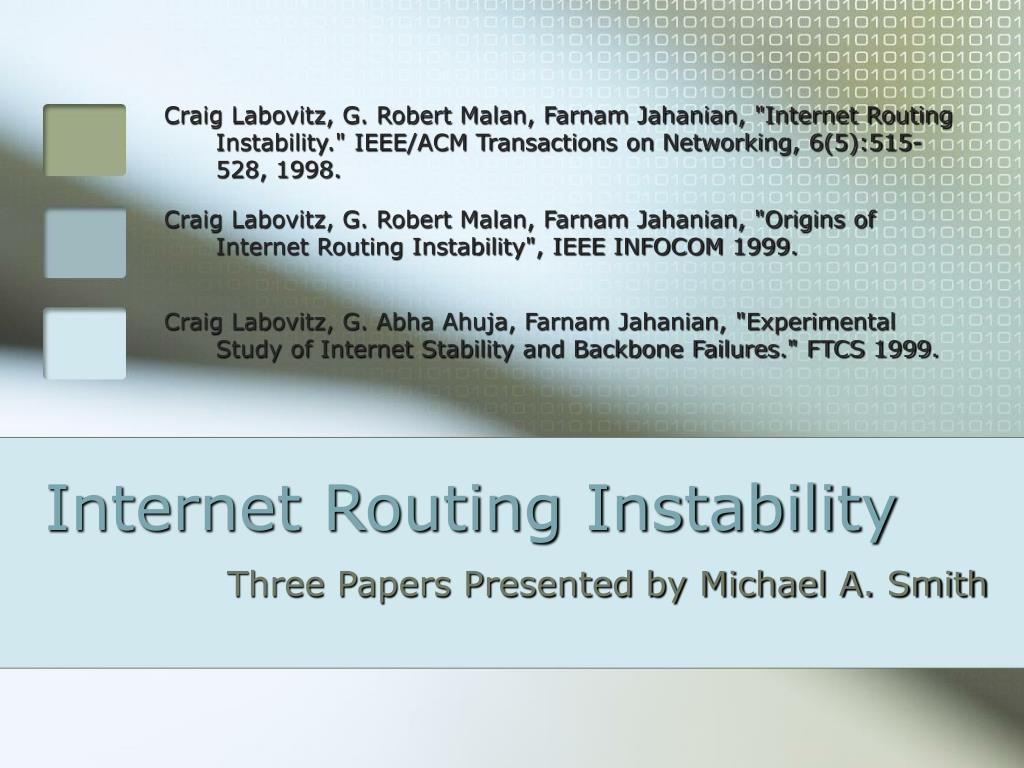 internet routing instability l.