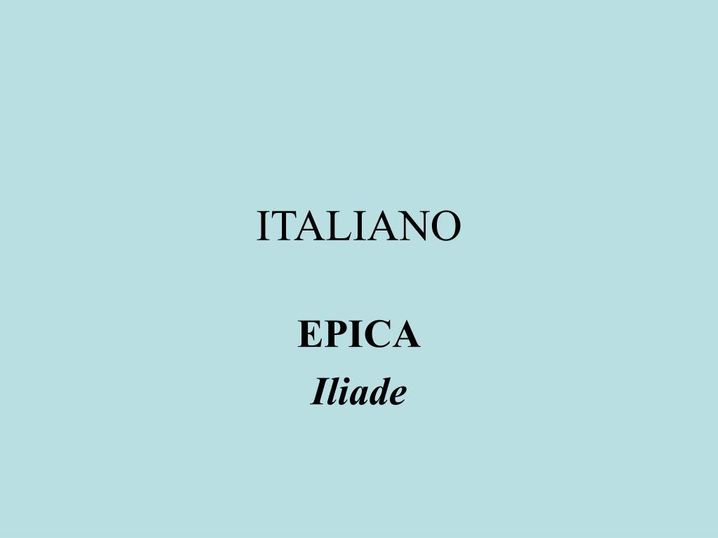 italiano l.