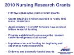2010 nursing research grants