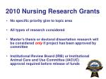 2010 nursing research grants6