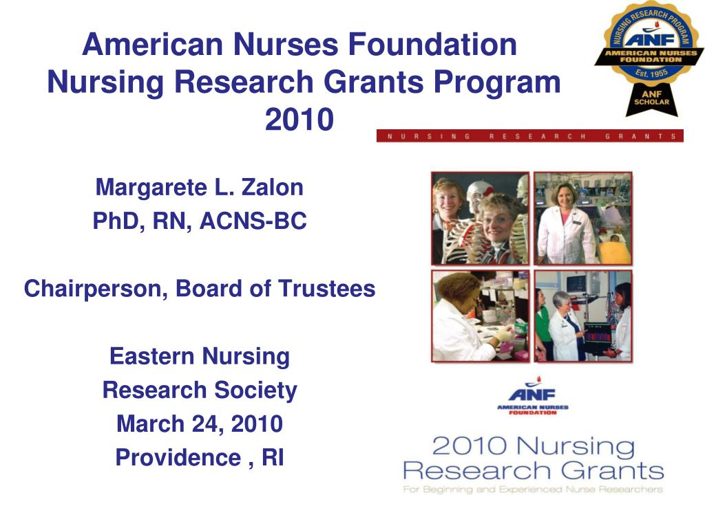american nurses foundation nursing research grants program 2010 l.