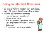 being an informed consumer
