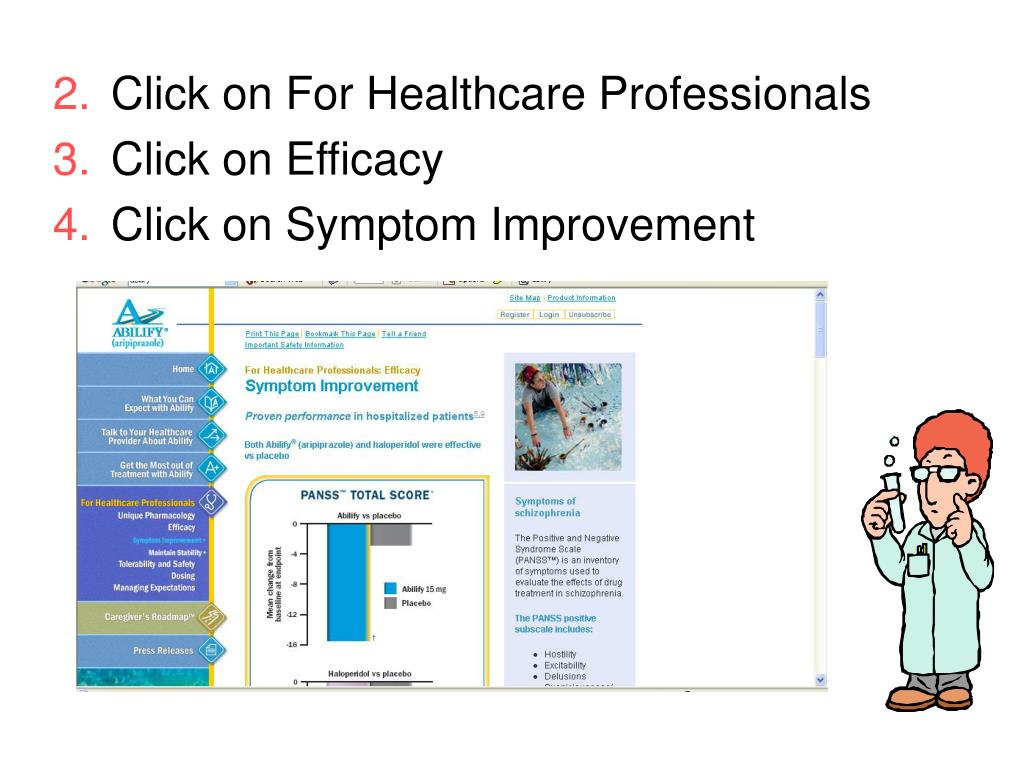 Click on For Healthcare Professionals