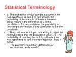 statistical terminology