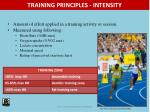 training principles intensity