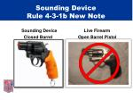 sounding device rule 4 3 1b new note10