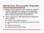 borderline personality disorder15