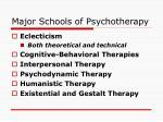 major schools of psychotherapy