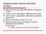 posttraumatic stress disorder ptsd12