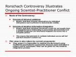 rorschach controversy illustrates ongoing scientist practitioner conflict