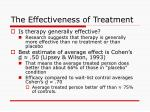 the effectiveness of treatment114