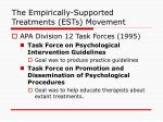 the empirically supported treatments ests movement