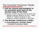 the scientist practioner model