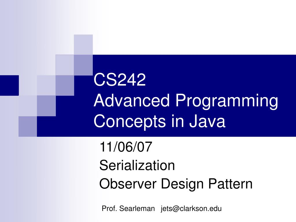 cs242 advanced programming concepts in java l.
