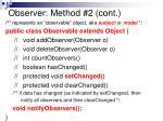 observer method 2 cont