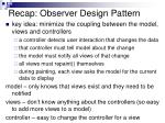 recap observer design pattern