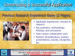 constructing a successful application18