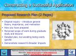 constructing a successful application19