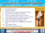 constructing a successful application22