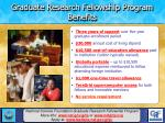 graduate research fellowship program benefits