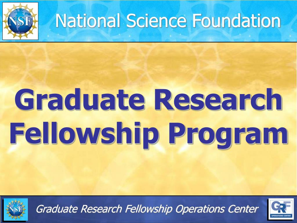 graduate research fellowship program l.