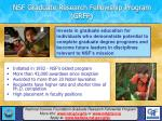 nsf graduate research fellowship program grfp