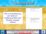 the rating sheet