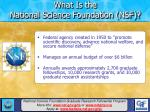 what is the national science foundation nsf