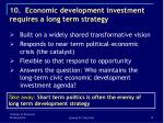 10 economic development investment requires a long term strategy