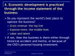 4 economic development is practiced through the income statement of the business