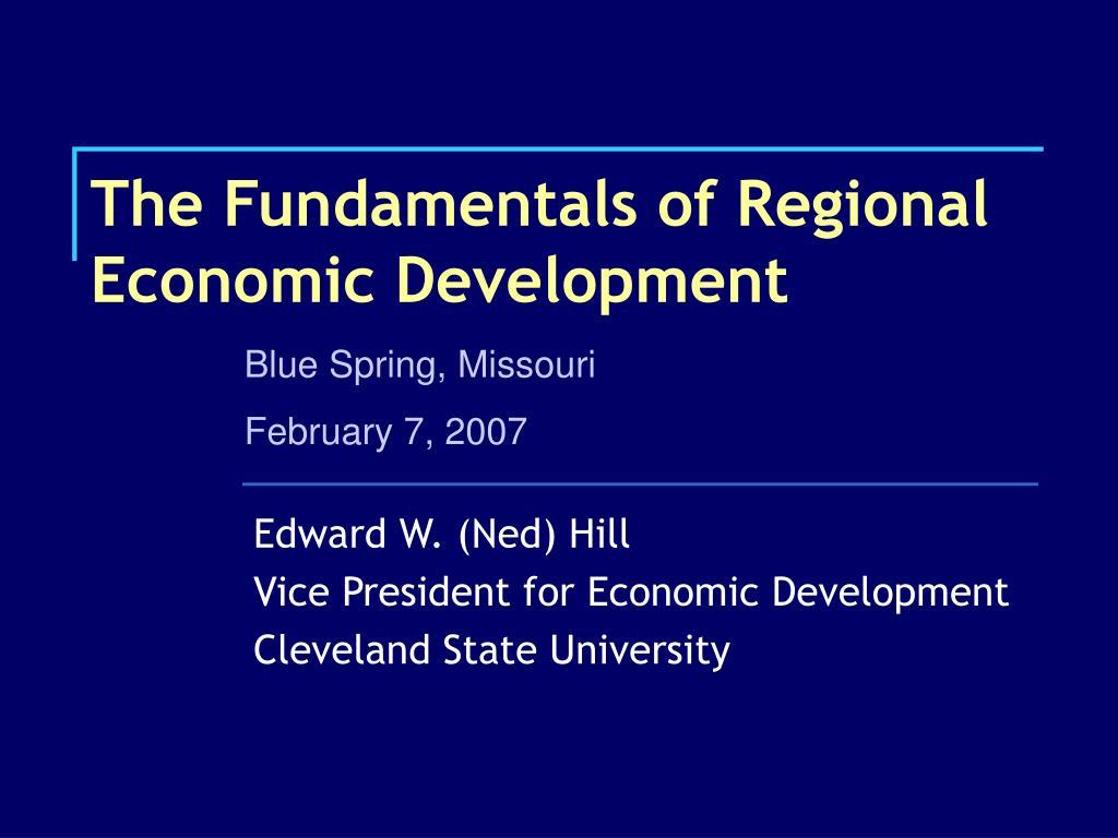 the fundamentals of regional economic development l.
