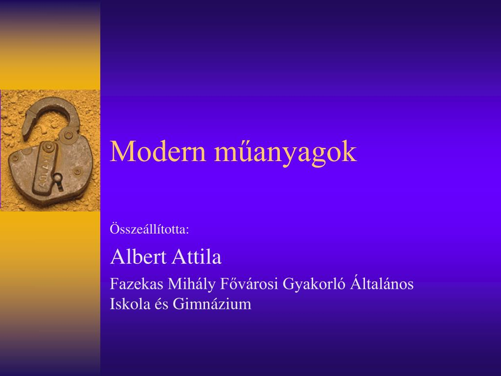 modern m anyagok l.