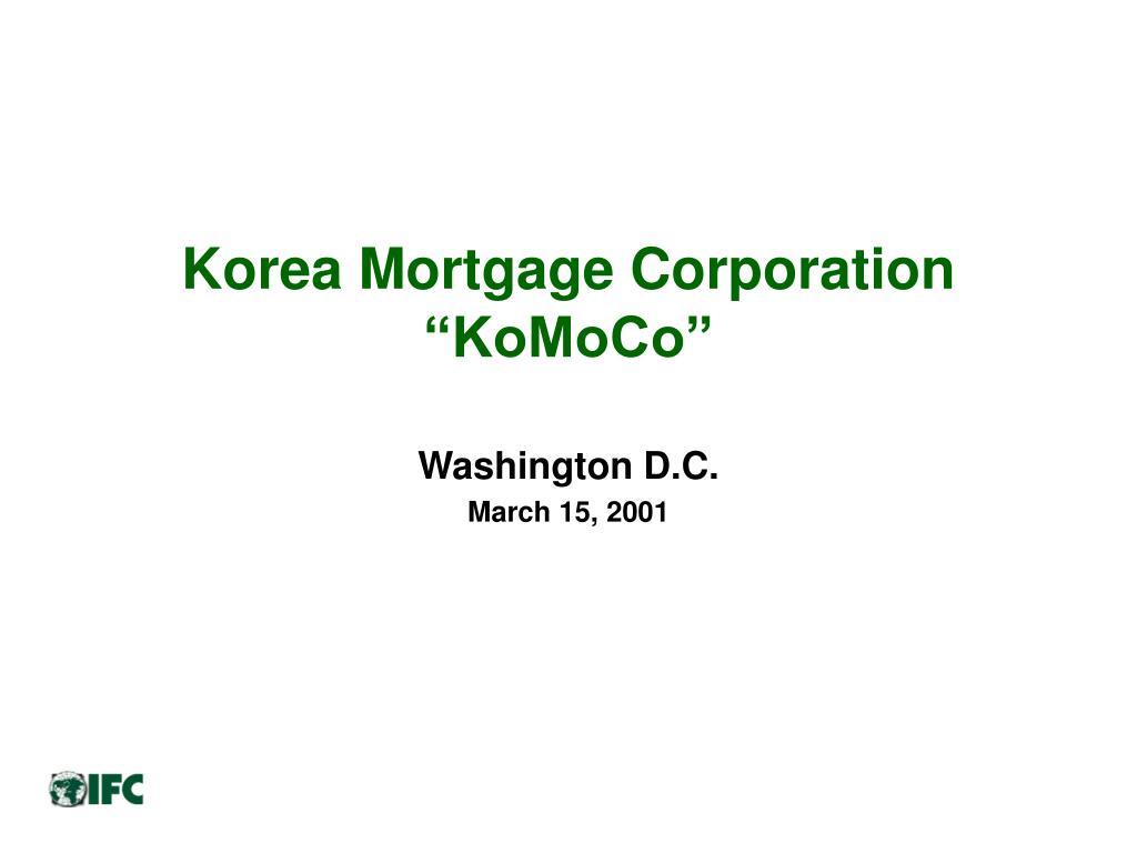 korea mortgage corporation komoco l.
