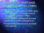 commercial mortgage backed securties cmbs