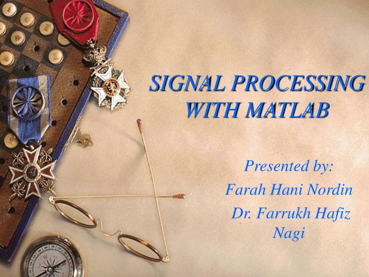 signal processing with matlab n.