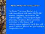 what is signal processing toolbox
