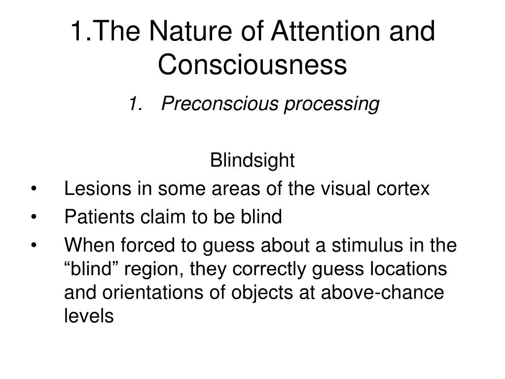 PPT - Attention and Consciousness PowerPoint Presentation