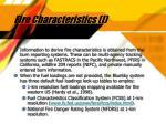 fire characteristics i