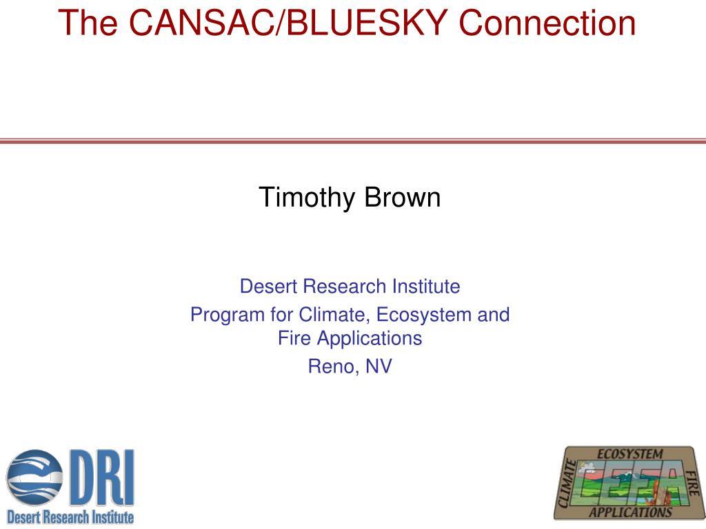 the cansac bluesky connection l.