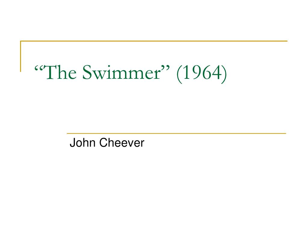 """""""The Swimmer"""" (1964)"""