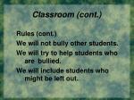 classroom cont